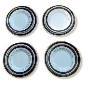 Set of 8 ceramic plates four big and four small
